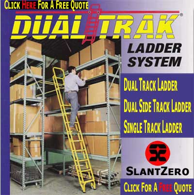 Save Time & Money With A Dual Track Warehouse Ladder.